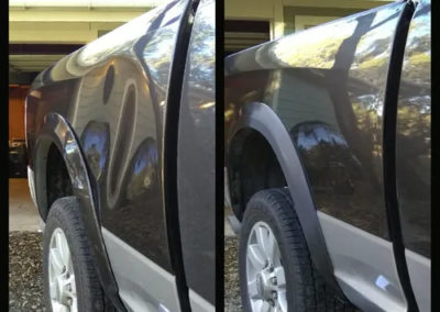 Before and After Truck Dent Repair