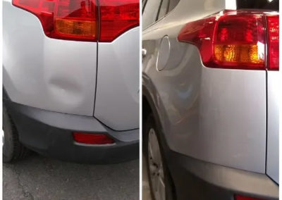 Before and After Bumper Dent Removal